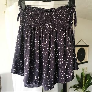 Express Floral Print Mini Skirt
